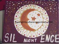 Mond, Stern, Nacht, Malerei