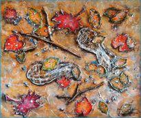 Raureif, Frost, Herbst, Blätter