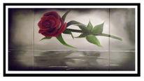 Rose, Ölmalerei, Malerei,