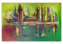 Acrylmalerei, Malen, Acryl gemälde, Abstrakte kunst