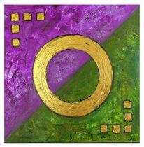 Lila grün, Abstrakt, Malen, Acrylmalerei