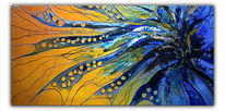 Acrylmalerei, Dynamik, Malerei, Gelb
