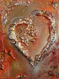 Malen, Dekoration, Herz, Acrylmalerei