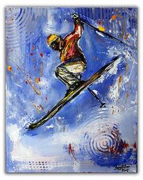 Sportbilder, Sportmalerei, Springer, Gemälde