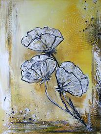Mohnblumen, Modern painting, Blumen, Gemälde