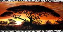 Gemälde, Groß, Afrika, Serengeti