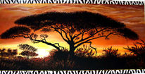 Serengeti, Afrika, Auftragsmalerei, Landschaft