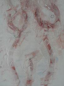 Blind, Spiegelbild, Akt, Malerei