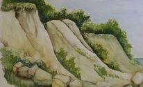 Aquarellmalerei, Aquarell, Steilküste