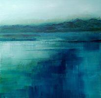 Türkis, Berge, Blau, Wasser