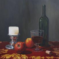 Realismus, Apfel, Rot, Stillleben