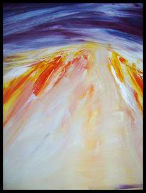Malerei, Ölmalerei, Landschaft, Abstrakt