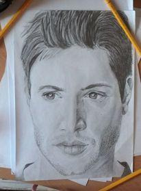 Portrait, Schauspieler, Zeichnung, Malerei