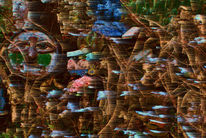 Menschen, Digitale kunst, Landschaft, Ausdruck