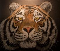 Pastellmalerei, Raubtier, Portrait, Tiger