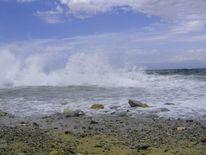 Strand, Brandung, Kalabrien, Himmel