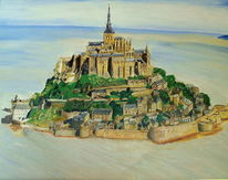 Normandie, Kloster, Malerei,