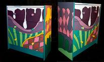 Kunstobbjekt, Kommode, Schrill, Acrylmalerei