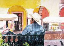 Malerei, Stadt, Schatten, Mexiko