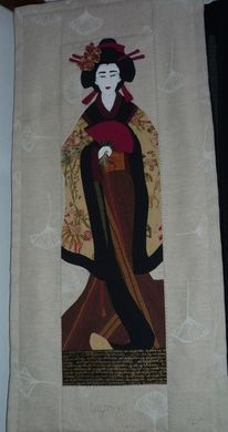 Geisha, Patchwork, Malerei
