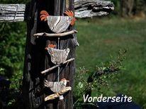 Zebrahuhn, Hahn, Keramik, Brennen