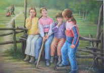 Young children, Portrait, Village children, Jung