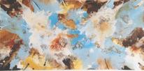 Ocker, Braun, Abstrakt, Acrylmalerei