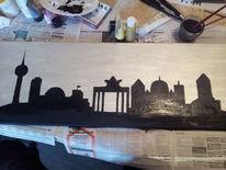 Acrylfarben, Skyline berlin