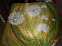 Pusteblumen, Garten, Blumen, Malerei