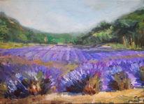 Lavendel, Ölmalerei, Impressionismus, Duft