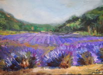 Lavendel, Ölmalerei, Impressionismus, Luberon