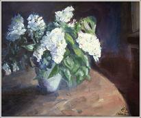 Flieder, Weisser flieder, Vase, Blumen