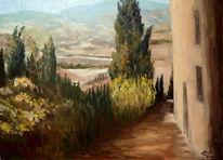 Impressionismus, Baum, Toskana, Natur