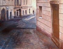 Linz, Ölmalerei, Stadt, Altstadt