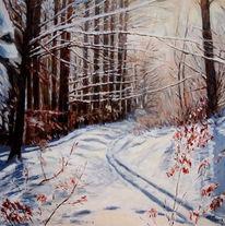 Schnee, Impressionismus, Winterwald, Wintersonne