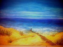 Acrylmalerei, Malerei, Strandbilder,