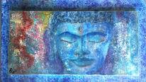 Wahrnehmung, Stille, Blau, Buddha