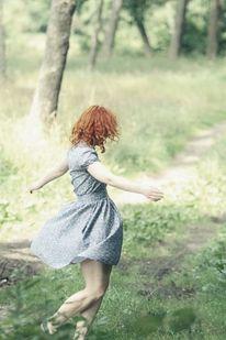 Kleid, Lebensfreude, Tanz, Frau