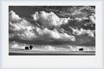 Wolken, Schwarzweiß, Natur, Drama