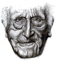 Gesicht, Alter man, Falten, Portrait