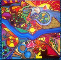 Wasserfarbe, Muschel, Bunt, Farben