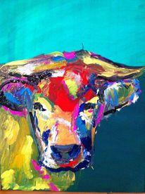 Kuh, Tiere, Malerei