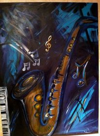 Saxofon, Musik, Malerei