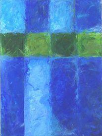 Malerei, Kreuz, Blau