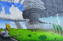 Erfolgsmoment, Superzelle, Wolken, Acrylmalerei