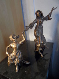 Bronzeguss, Plastik, Tanz, Tod