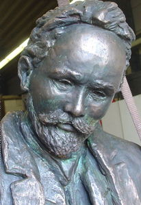 Vater, Bronzeportrait, Plastik, Skulptur