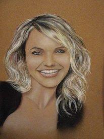 Pastellmalerei, Menschen, Portrait, Frau