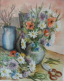 Blumenstrauß, Stillleben, Wiesenblumen, Blumen