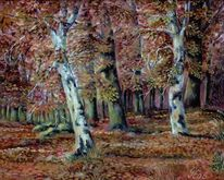 Herbstwald, Malerei